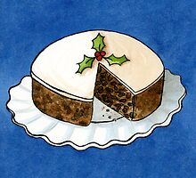 Christmas - Fruit Cake CARD by Sarah Christie