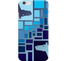 Horses and Rectangles iPhone Case/Skin