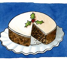 Christmas - Fruit Cake PRINTS by Sarah Christie