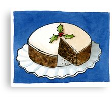 Christmas - Fruit Cake PRINTS Canvas Print