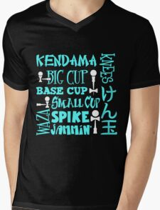Kendama Word Block, lt blue Mens V-Neck T-Shirt