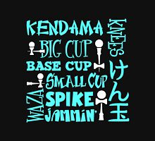Kendama Word Block, lt blue Men's Baseball ¾ T-Shirt