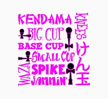 Kendama Word Block, pink Womens Fitted T-Shirt