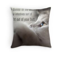 """Jesse Pinkman + Cat - """"Thank you, I know what ebola is."""" Throw Pillow"""
