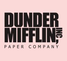 Dunder Mifflin Logo- B/W One Piece - Long Sleeve