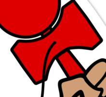 Rockin the Kendama, red Sticker