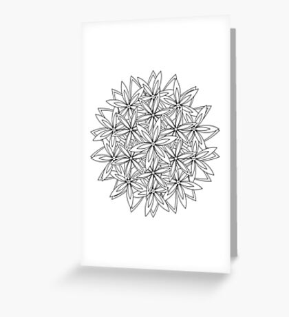 A flower bundle to color Greeting Card