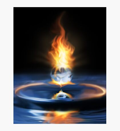 Fire Drop Photographic Print