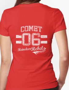 Comet Reindeer Rebel Womens Fitted T-Shirt
