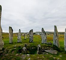 Calanais Stone Circle on Lewis Island in Scotland by donberry