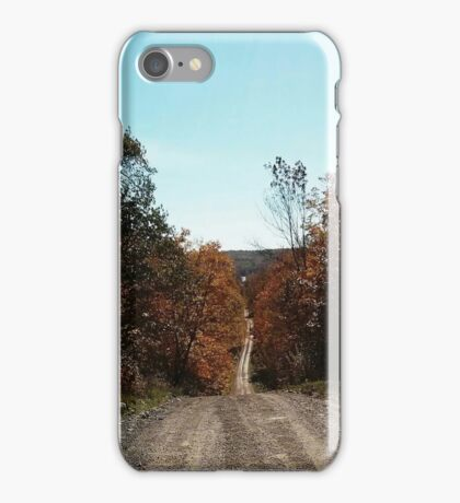 Northern Ontario country lane iPhone Case/Skin