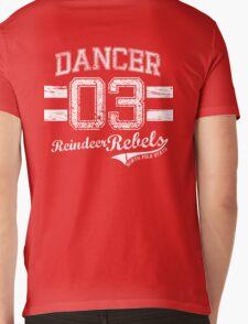 Dancer Reindeer Rebel Mens V-Neck T-Shirt