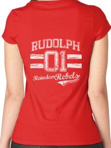 Rudolph Reindeer Rebel Women's Fitted Scoop T-Shirt