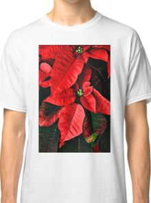 Red Christmas Flower Poinsettia Classic T-Shirt