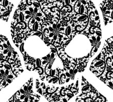 Lacey Butterfly Skull Sticker