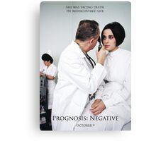 Prognosis Negative Theatrical Poster Canvas Print