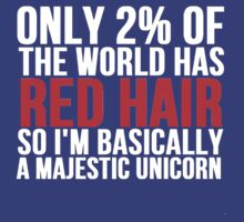 RED HAIR MAJESTIC UNICORN by mralan