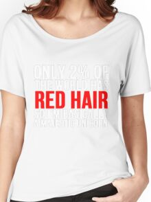 RED HAIR MAJESTIC UNICORN Women's Relaxed Fit T-Shirt