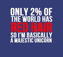 RED HAIR MAJESTIC UNICORN Unisex T-Shirt