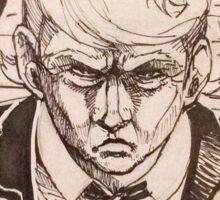 President Trump's wall manga Sticker