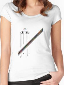 Abstract ideas (black eyes) Women's Fitted Scoop T-Shirt