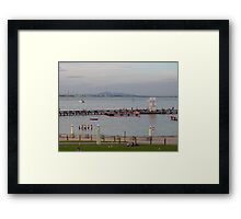 A warm evening & Blue Hour, Geelong Waterfront. Vic. Framed Print