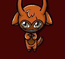 Orange Chibi Demon Phone Case by Mimi-The-Turtle