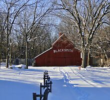 Blacksmith Shop in Winter by adastraimages