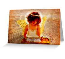 Angel Adoration - O Come Let Us Adore Him.. Greeting Card