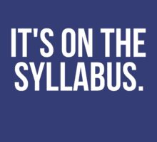 Its On The Syllabus by Alan Craker