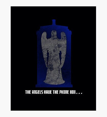 The Angel and the Blue Box Photographic Print