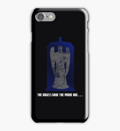 The Angel and the Blue Box iPhone Case/Skin