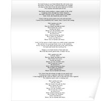 "Lyrics - ""Jackie And Wilson"" by Hozier Poster"
