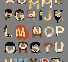GoT Alphabet by Mike Boon