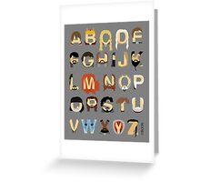 GoT Alphabet Greeting Card