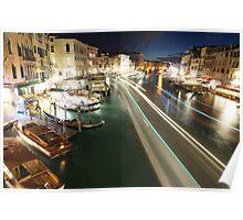 Venice: Rialto Bridge long shutter Poster