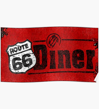Route 66 Diner Sign Poster