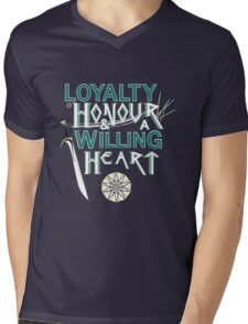 Loyalty, Honour and a Willing Heart Mens V-Neck T-Shirt