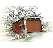 Herr's Mill Historic Covered Bridge Photographic Print