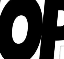 Hope Logo Black Ink   Hope4Pope.org Sticker