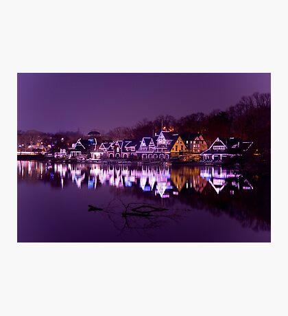 Philadelphia Boathouse Row Photographic Print