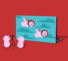Flying pig by Budi Kwan