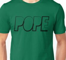 Pope Long Triangle Black Ink | Hope4Pope.org Unisex T-Shirt