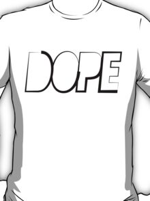 Dope Long Triangle Black Ink | Hope4Pope.org T-Shirt
