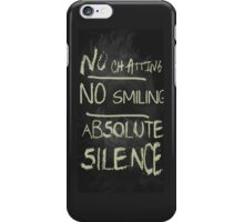 Rules of the house iPhone Case/Skin