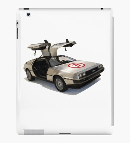 number 3 delorean iPad Case/Skin