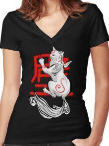 Kabegami Women's Fitted V-Neck T-Shirt