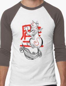Kabegami Men's Baseball ¾ T-Shirt