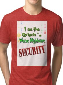 Holiday Grinch's Beware Tri-blend T-Shirt