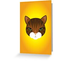Mean Tabby Cat Greeting Card